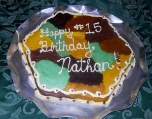 15 year old birthday cake - Nathan