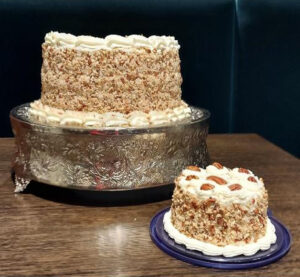 Full-size cake and small one for first anniversary