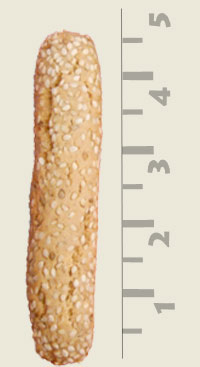 Our Biscotti cookies are almost 5 inches long.