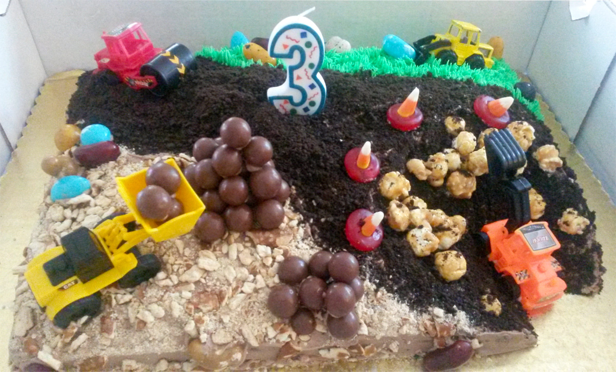 Birthday cake for construction theme party Dolci Italian Sweets LLC