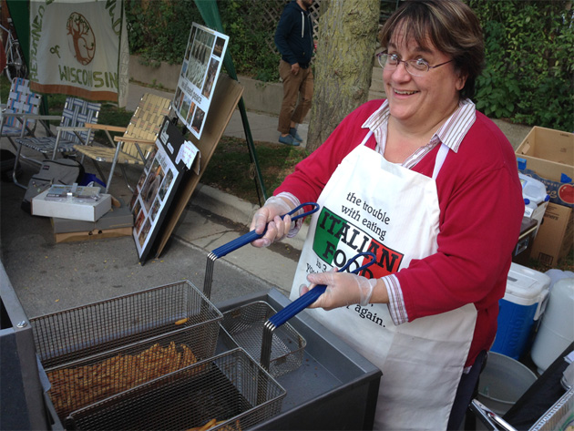 Sandy Hunter the cookie lady at Willy Street festival