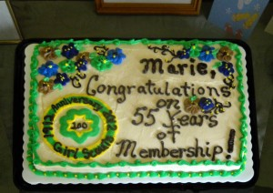Congratulations on 55 years with the Girl Scouts