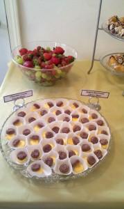 Handmade chocolate and lemon mints