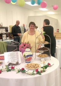 Sandy Hunter the cookie lady at a more formal event