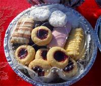 Assorted butter cookies - lemon, iced, chocolate, wedding cookies