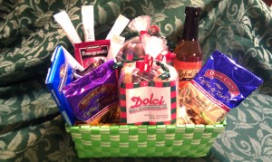 Dolci gift basket - biscotti, chocolate, and other treats