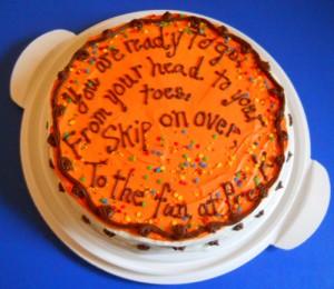 Bright orange cake for kids