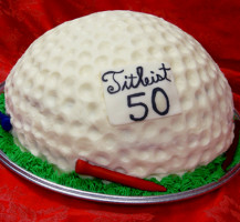 Titleist Golf Ball Birthday Cake