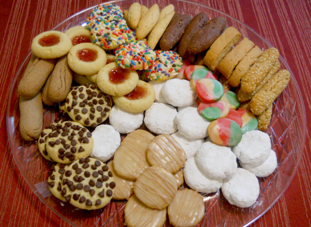 Tray of Biscotti and Butter Cookies