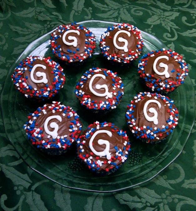 Chocolate Alphabet Cupcakes