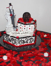 Custom Halloween Wedding cake