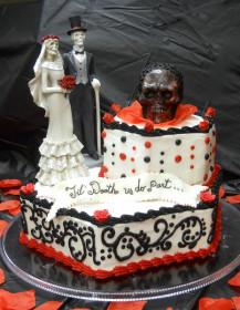 Wedding Cake with Halloween Theme
