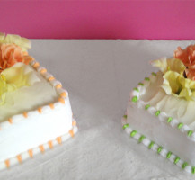 Two wedding cakes