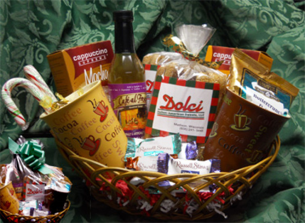 Christmas Gift basket with candy cane