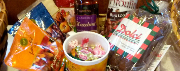 Dolci donated this basket and sold biscotti at the bon fire event Harvest Moon Festival, Madison 2014