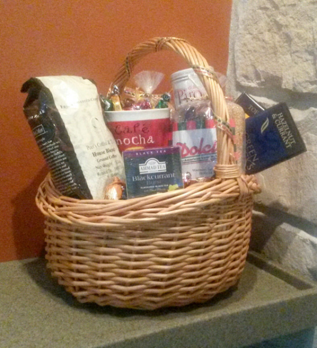 During the grand opening of the movie The Trip to Italy, Sundance Cinema gave away this Dolci basket